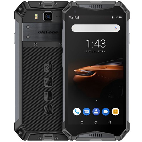 Ulefone Armor 3W Waterproof 4G Smartphone 5.7″ Phone With Huge 10300mAh Battery And Face ID Fingerprint