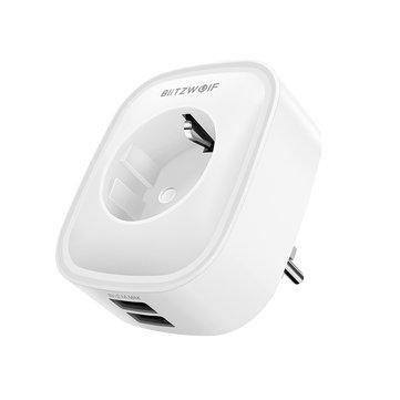 BlitzWolf BW-SHP5 2.1A Dual USB Ports 16A Smart WIFI Socket EU Plug (Voice Assistant)