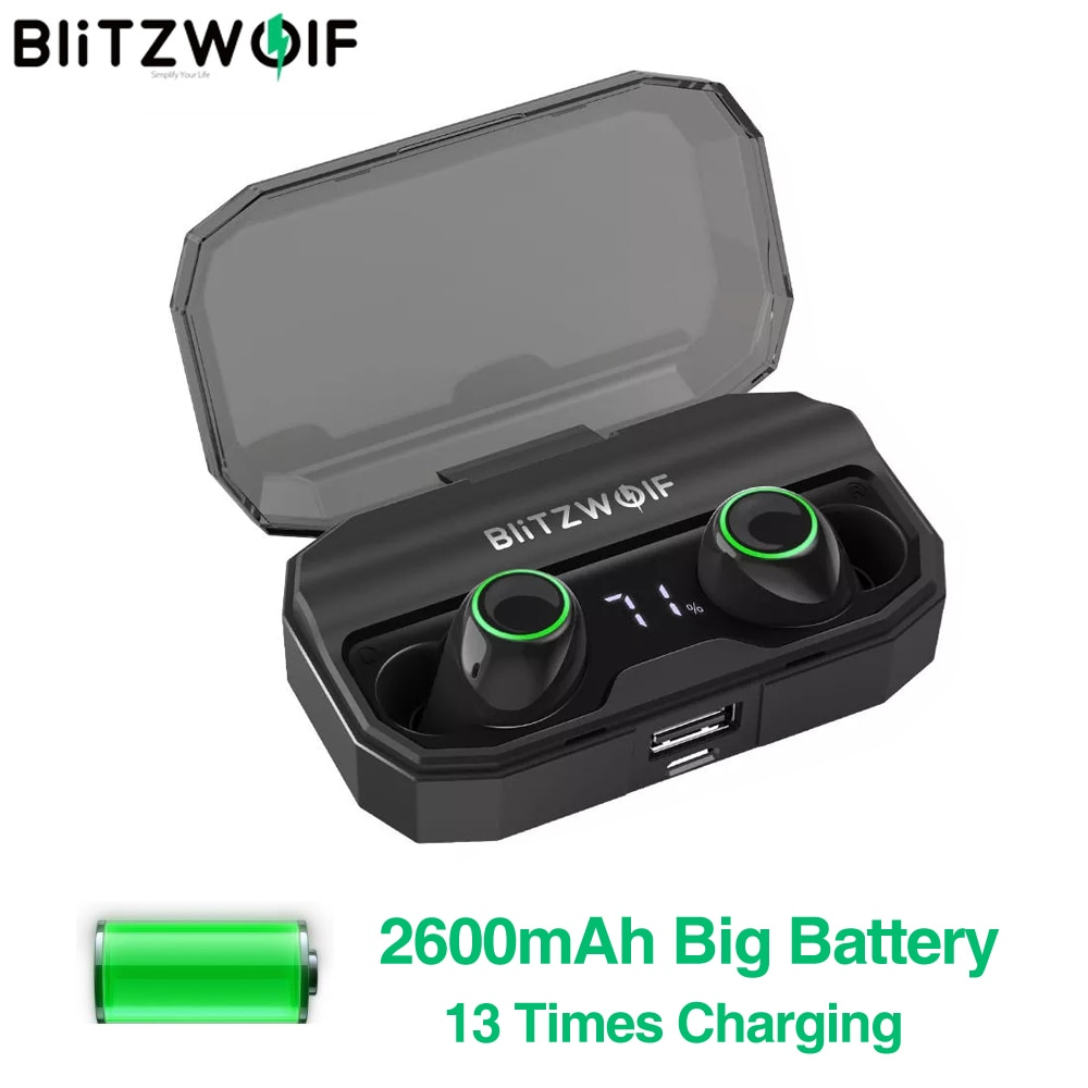 BlitzWolf FYE3S TWS BT 5.0 Charging Digital Power Display Earbuds