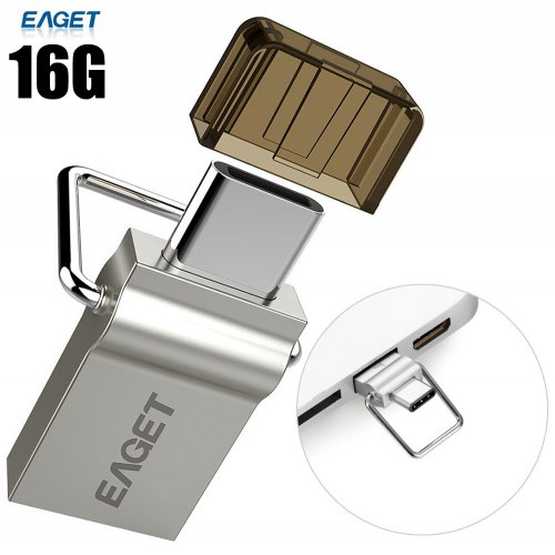 EAGET CU10 16GB USB 3.0 to Type-C Flash Drive