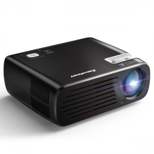 Excelvan BL23 Projector 1080P HD 3D Projector Input 2600 Lumens