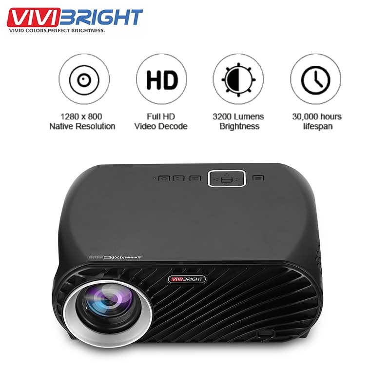 Vivibright GP100 LED Projector LCD 1080P HD VGA USB Home Theater