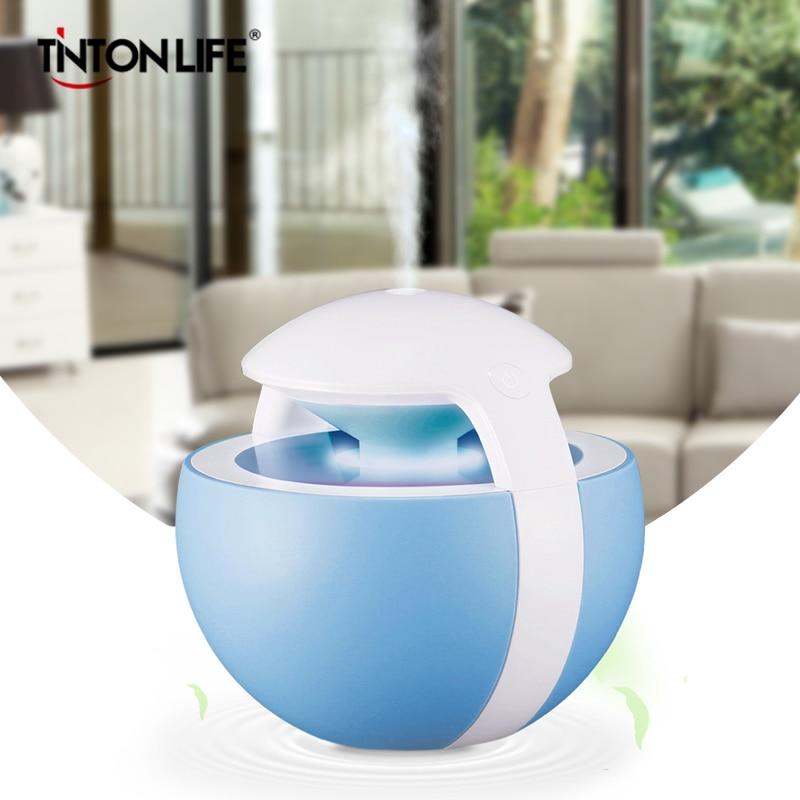 Tinton Life 450ML Desktop Ball Humidifier With Colorful Night Light Timer Air Atomizer