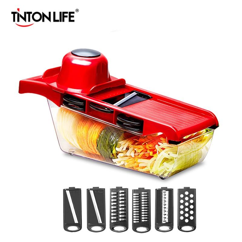 Tinton Life Vegetable Cutter Steel Blade Mandoline Slicer