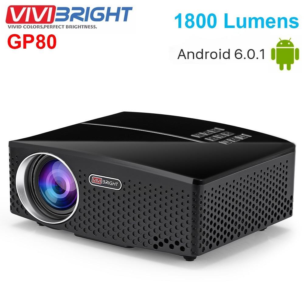 Vivibright GP80 Home Theater LED 1800 Lumens HD Projector