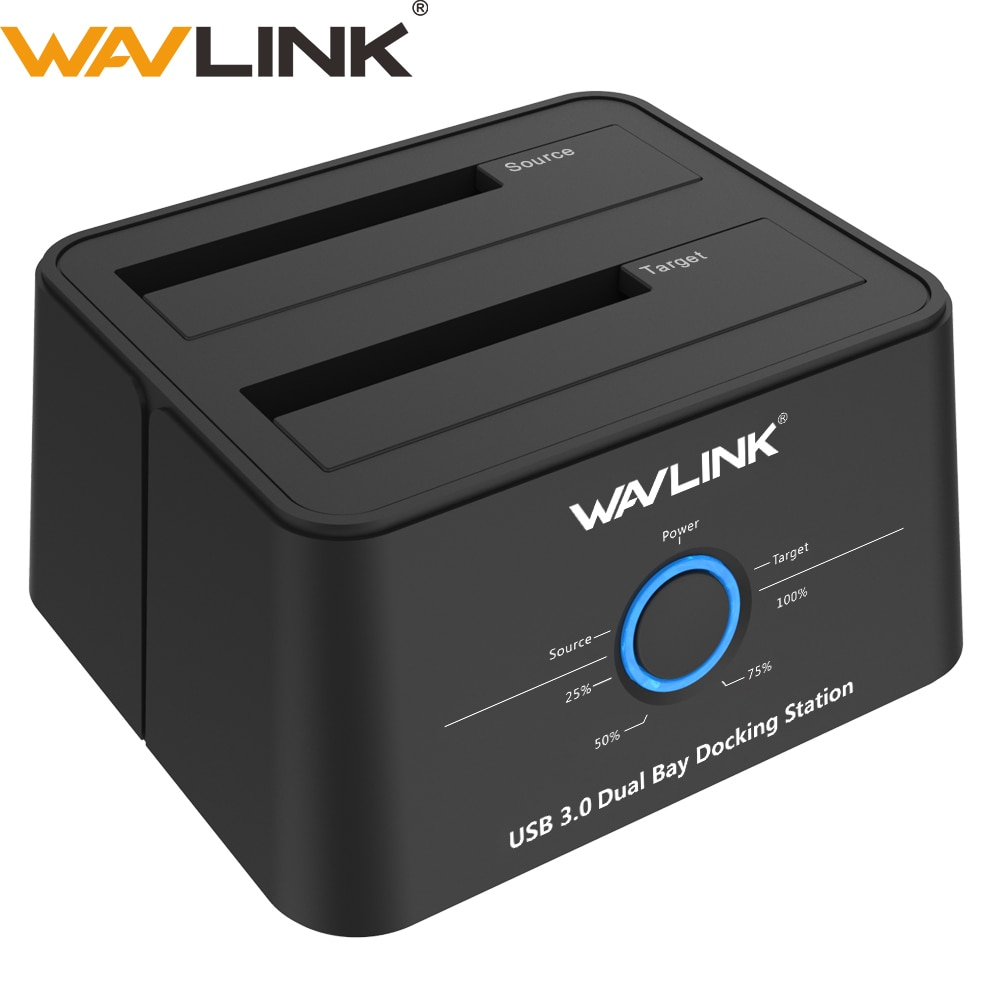 Wavlink WL-ST344U Dual-Bay 2.5/3.5 Inch HDD SSD Enclosure USB3.0 to SATA