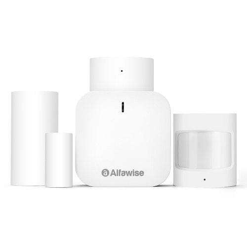 Alfawise Z1 Smart Home Voice Assistant Alarm Kit Door Window Sensor
