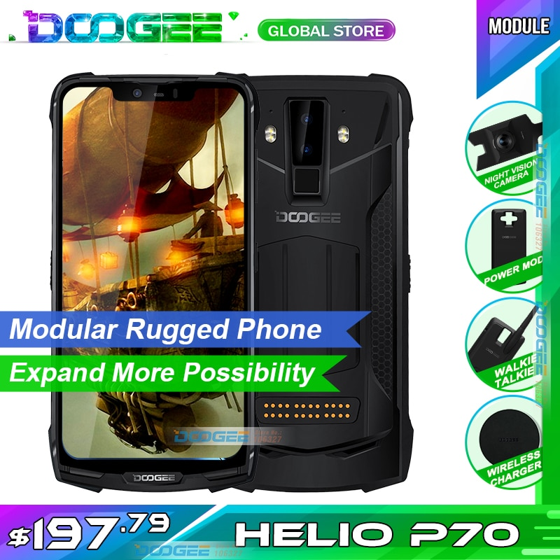 DOOGEE S90C Modular Outdoor Phone 6.18-inch 64GB Android 9.0