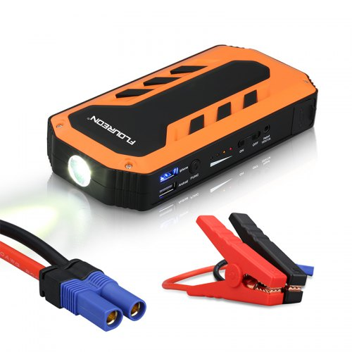 Floureon C100 Peak Current Jump Starter With LED Light