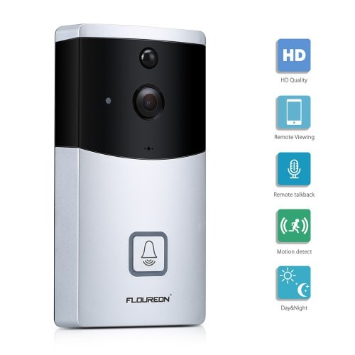 Floureon Video Doorbell Smart Home Security Camera PIR Motion Detection