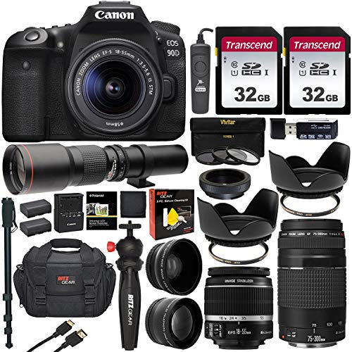 Canon EOS 90D DSLR Camera With Professional Kit Full Canon Accessories