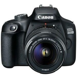Canon EOS Rebel T7 Digital SLR Camera Premium Bundle 24.1MP