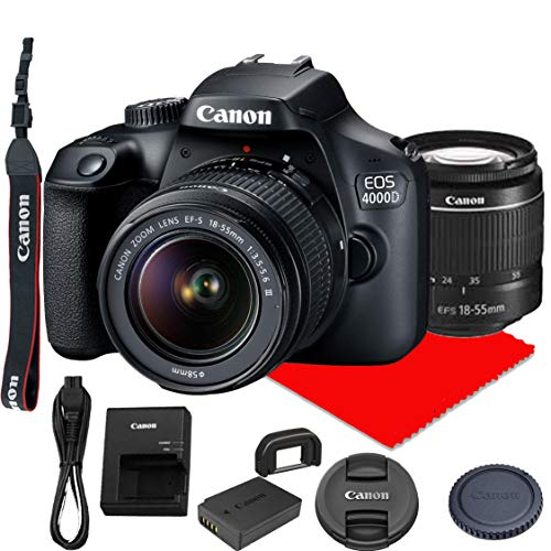 Canon EOS 4000D DSLR Digital Camera Global Version With Bundle
