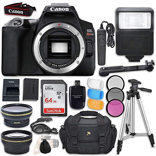 Canon EOS Rebel SL3 DSLR Camera With 18-55mm Lens + Bag + 64GB Card