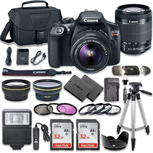 Canon EOS Rebel T6 DSLR Camera With Professional Bundle