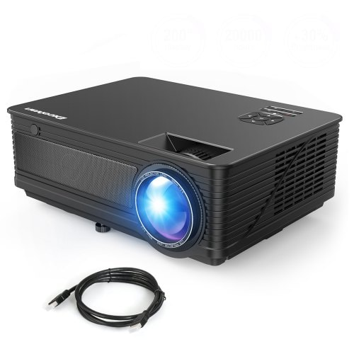 Excelvan M5 FHD Projector 200-inch Projection Size HDMI Interface