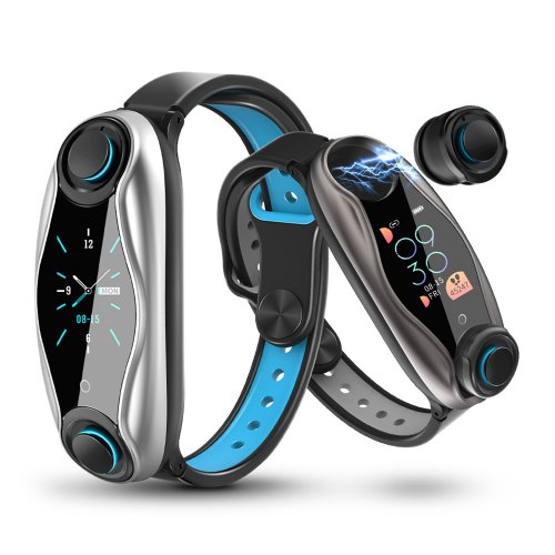 LEMFO LT04 T90 2 in 1 Waterproof Sports Smart Watch With Integrated Earbuds