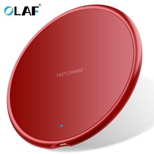 Olaf 10W Round Ultrathin Fast Wireless Charging Pad