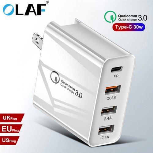 OLAF 48W QC 3.0 Multi-Port USB Charger