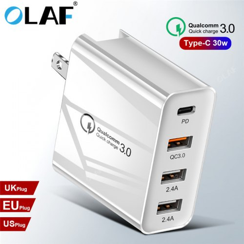 OLAF 48W QC 3.0 Multi-Port USB Charger Type C PD Phone Wall Charger