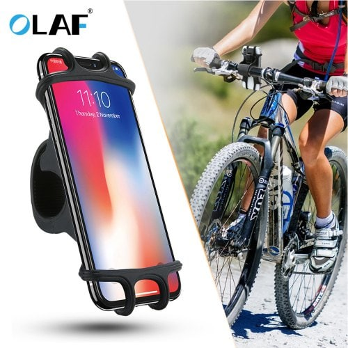 OLAF Bicycle Silicone Smartphone Holder Durable Universal Bike Mount