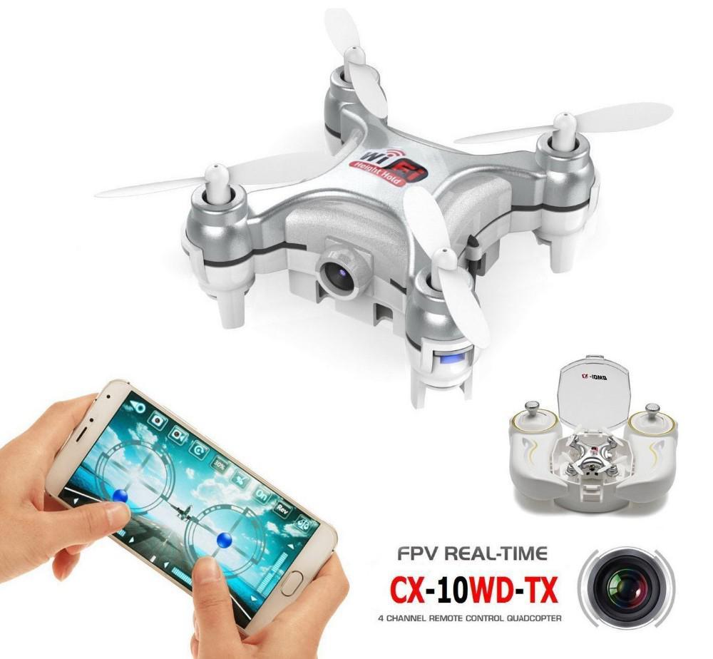 Cheerson CX-10W Mini Drone 4CH 6Axis Gyro Wifi FPV RTF RC Quadcopter