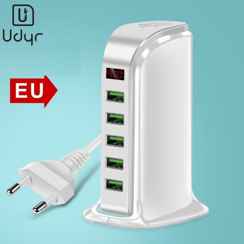 Udyr Desktop 5 Ports USB Charger LCD Display Universal Charging Station
