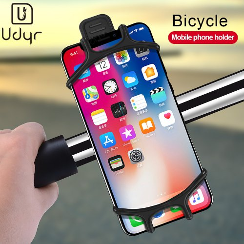 Udyr Silicone Bike Clip Stand Bike Phone Holder Anti-shock Mount For Smartphones