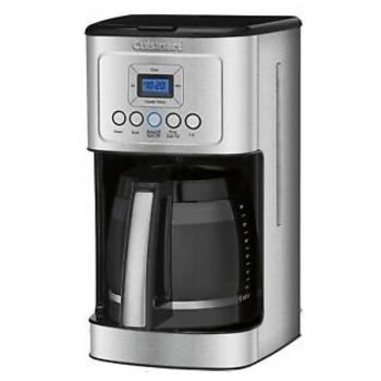 Cuisinart DCC-3200 Stainless Steel Coffee Maker 14 Cup Programmable with Glass Carafe