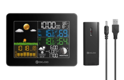 DIGOO Color Screen Wireless Digital Outdoor Temperature Smart Home Weather Station