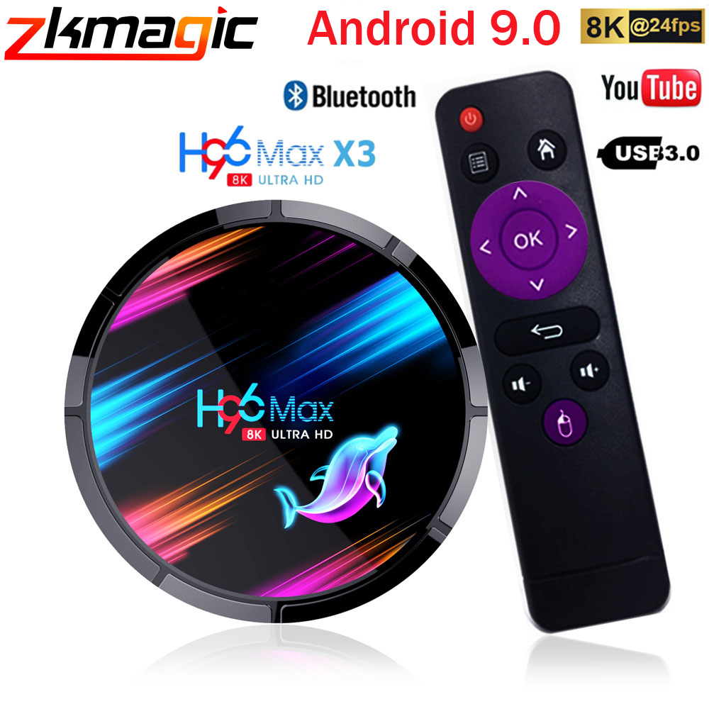 Android 9.0 H96 MAX X3 1000M Smart TV Box