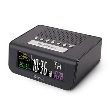 Digoo DG-FR100 Weather Forecast Smart Wireless Alarm Clock With FM Radio