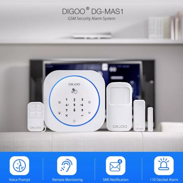 Digoo DG-MAS1 Wireless APP Control Two Way Audio Smart Home Alarm System Kits