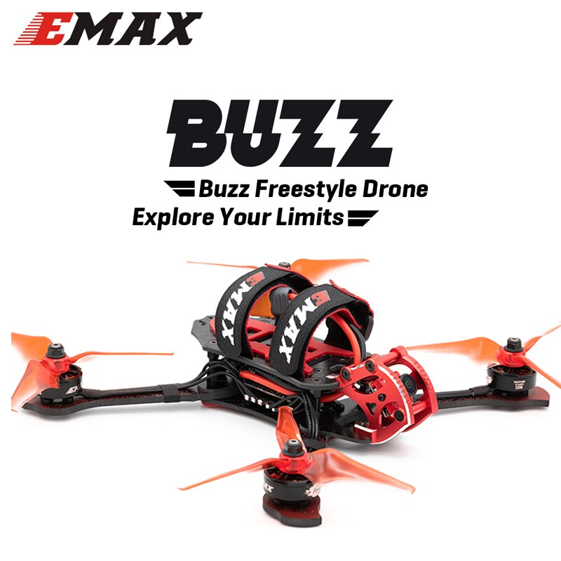 Emax Buzz Drone 245mm F4 1700KV 5 inch XM+ Receiver Freestyle FPV Racing Drone