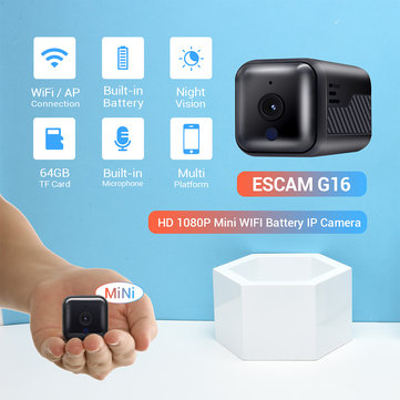 ESCAM G16 Mini Night Vision Portable Battery Camera Handheld Video Recorder