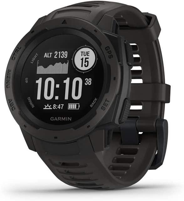 Garmin Instinct Rugged Outdoor Watch Shock And Water Resistance Smartwatch