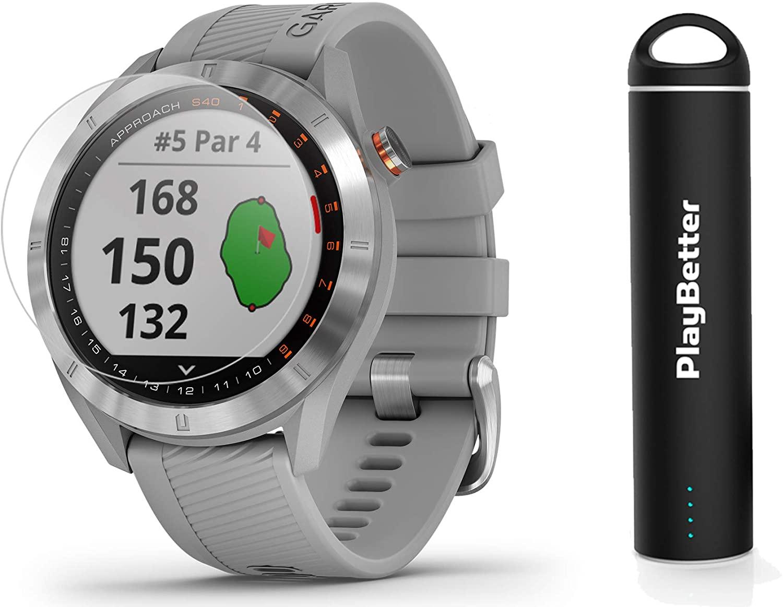 Garmin Approach S40 GPS Golf Smartwatch Touchscreen Display Stainless Watch