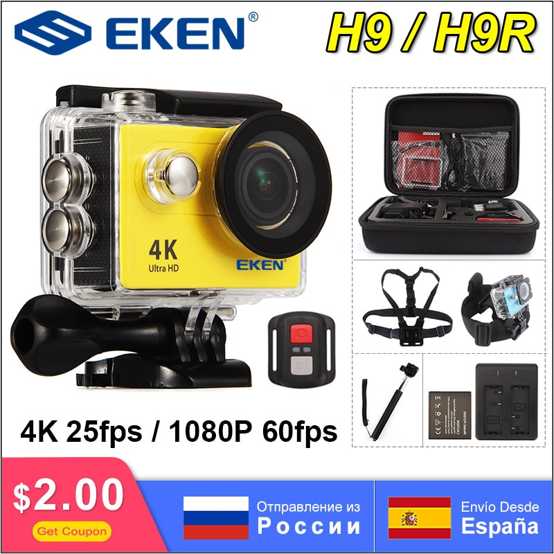 EKEN H9R H9 UHD 4K 25fps Action Sports Camera Underwater Video Recording