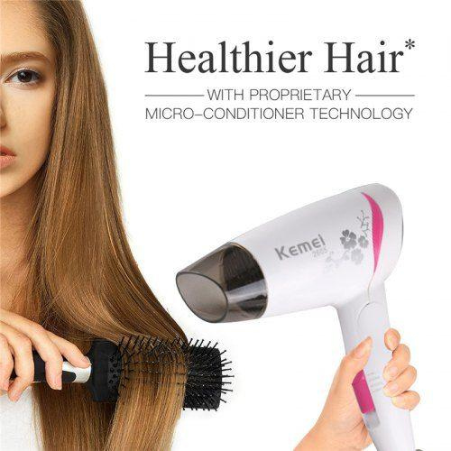 Kemei km-2605 Strong Wind Hair Dryer Household Portable 1600w High Power
