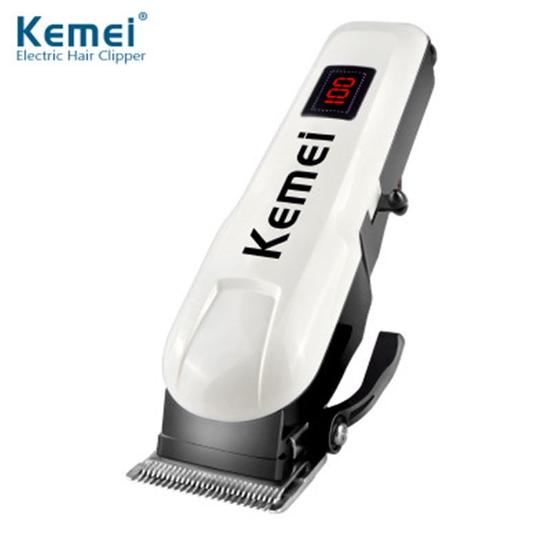 Kemei KM-809 Hair Clipper With LCD Display Men Hair Cutter Rechargeable Hair Trimmer