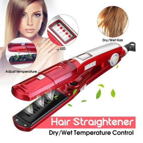 Kemei Steam Hair Straightener Flat Iron Wet and Dry Hair Styling Steampod