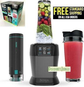 Nutri Ninja Blender BL580 with FreshVac Technology 2 Manual Speeds + Cups with Lids