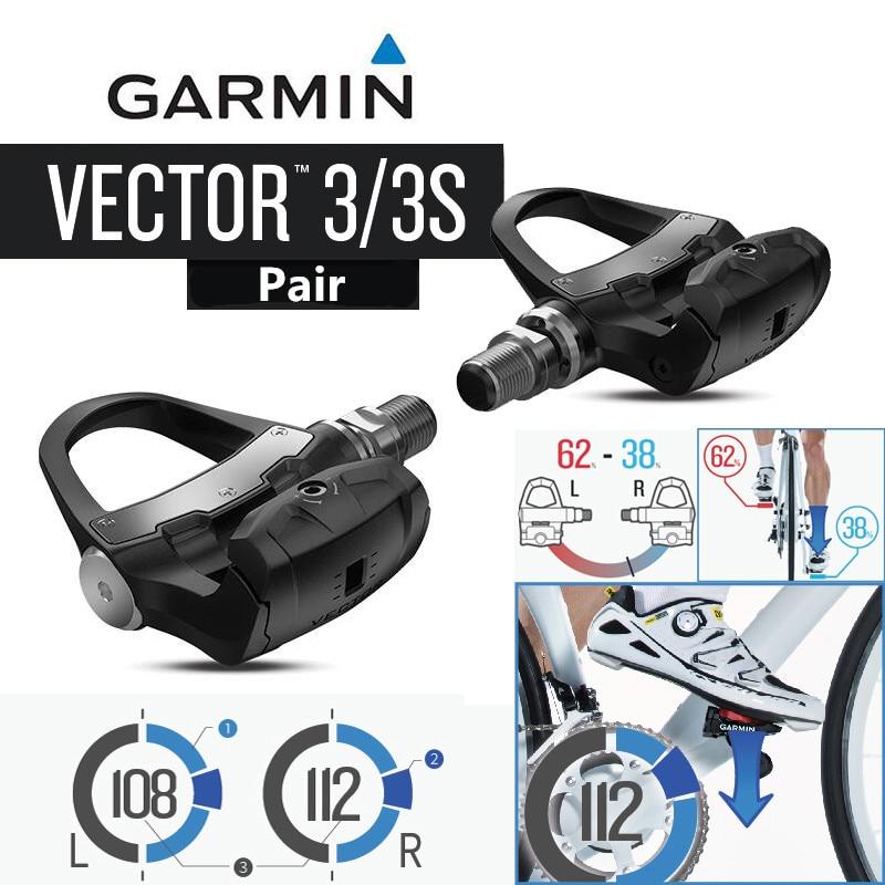 Garmin Vector 3S Stainless Steel Pedals Single Sensing Biking Cycle Power Meter