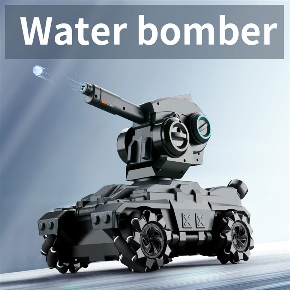 SMRC Water Bombs Battle RC Tank Toy With Drift Horizontal Movement 360° Rotating