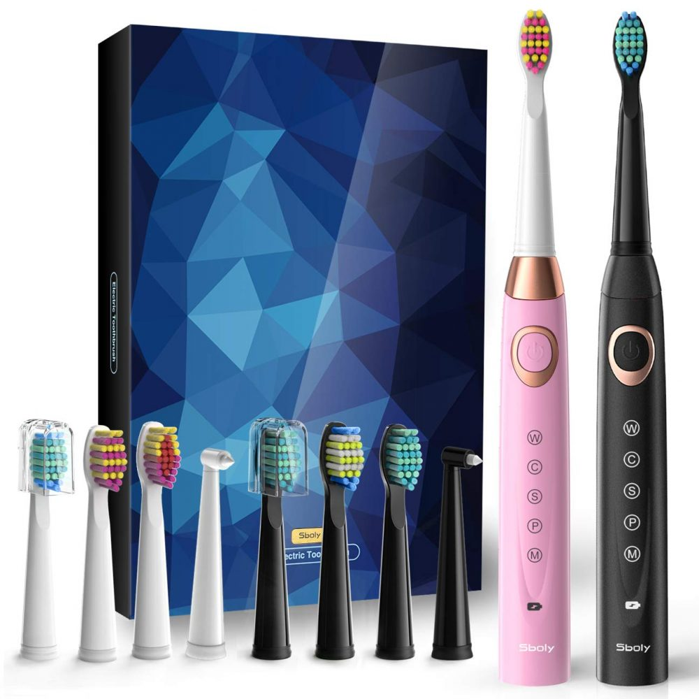 Sboly SY-508 Two Sonic Electric Toothbrushes
