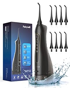 Fairywill Cordless Water Flosser 300ML Waterproof Portable 3 Modes Dental Oral Irrigator