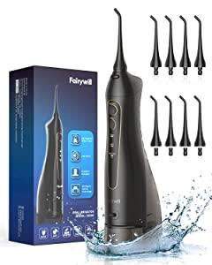Fairywill Cordless Water Flosser 300ML Waterproof Portable 3 Modes Dental Oral Irrigator