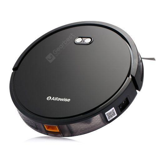 Alfawise V8S Max Smart Robot Vacuum Cleaner Voice Control UV Sterilization Wet and Dry