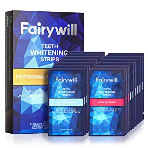 Fairywill Dental Safe Formula Professional White Strips Ace Teeth Whitening Strips (50 pcs)