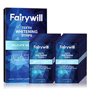 Fairywill Teeth Whitening Strips Gentle and Safe for Enamel Teeth Whitener (28 in Pack)